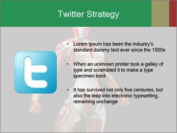 Female Robot PowerPoint Template - Slide 9
