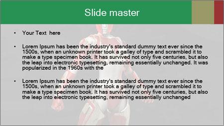 Female Robot PowerPoint Template - Slide 2