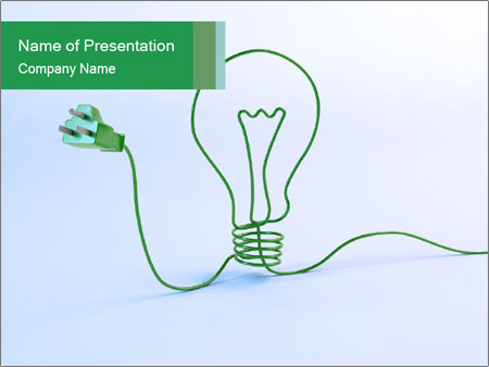 Green Bulb PowerPoint Templates