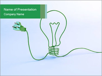 Green Bulb PowerPoint Template - Slide 1