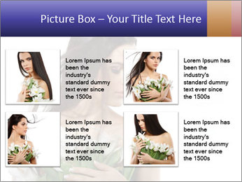 Bride with White Tulips PowerPoint Template - Slide 14