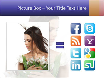 Bride with White Tulips PowerPoint Template - Slide 21