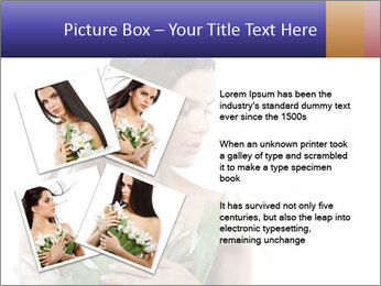 Bride with White Tulips PowerPoint Template - Slide 23