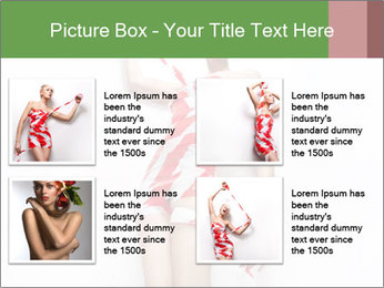 Woman Covered in Red and White Tape PowerPoint Templates - Slide 14