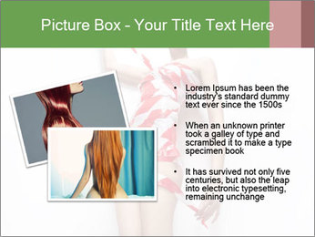 Woman Covered in Red and White Tape PowerPoint Template - Slide 20