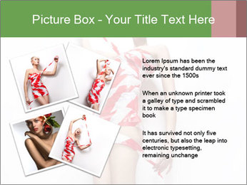 Woman Covered in Red and White Tape PowerPoint Template - Slide 23