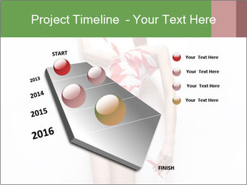 Woman Covered in Red and White Tape PowerPoint Template - Slide 26