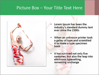 Red and White Female Dress Made of Tape PowerPoint Templates - Slide 13