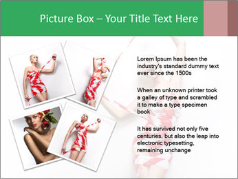 Red and White Female Dress Made of Tape PowerPoint Templates - Slide 23