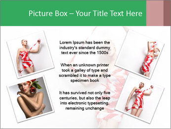 Red and White Female Dress Made of Tape PowerPoint Templates - Slide 24
