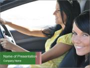 Two Women in the Car PowerPoint Templates