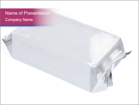 White Plastic Pack PowerPoint Template