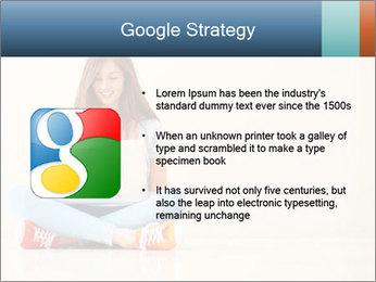Schoolgirl Surfing Online PowerPoint Template - Slide 10