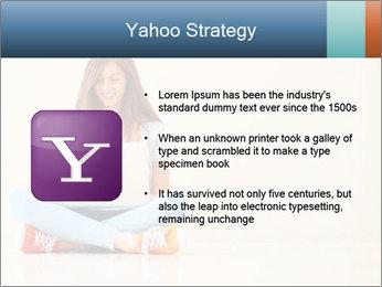 Schoolgirl Surfing Online PowerPoint Template - Slide 11
