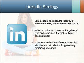 Schoolgirl Surfing Online PowerPoint Template - Slide 12