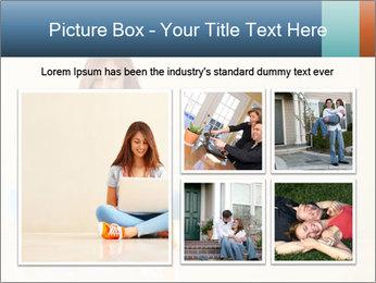 Schoolgirl Surfing Online PowerPoint Template - Slide 19