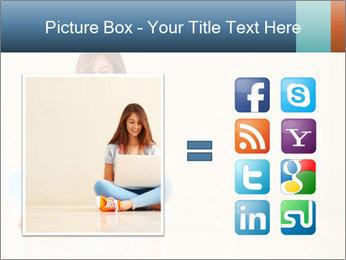Schoolgirl Surfing Online PowerPoint Template - Slide 21