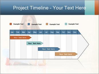 Schoolgirl Surfing Online PowerPoint Template - Slide 25