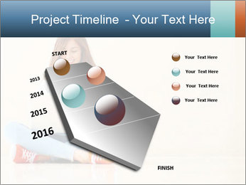 Schoolgirl Surfing Online PowerPoint Template - Slide 26