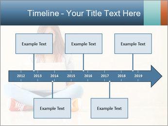 Schoolgirl Surfing Online PowerPoint Template - Slide 28