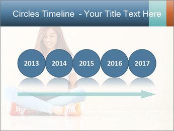 Schoolgirl Surfing Online PowerPoint Template - Slide 29