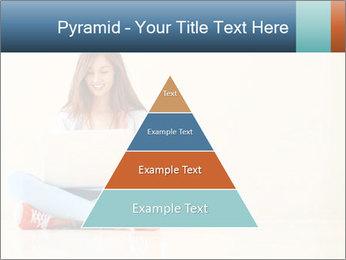 Schoolgirl Surfing Online PowerPoint Template - Slide 30
