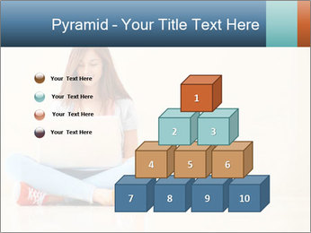 Schoolgirl Surfing Online PowerPoint Template - Slide 31