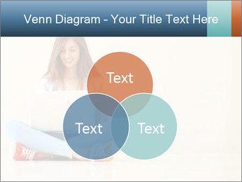 Schoolgirl Surfing Online PowerPoint Template - Slide 33
