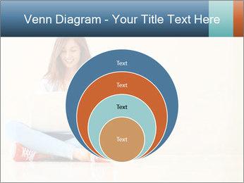 Schoolgirl Surfing Online PowerPoint Template - Slide 34