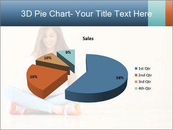 Schoolgirl Surfing Online PowerPoint Template - Slide 35
