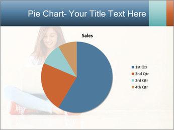 Schoolgirl Surfing Online PowerPoint Template - Slide 36