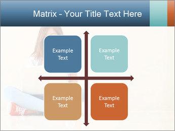 Schoolgirl Surfing Online PowerPoint Template - Slide 37