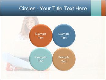 Schoolgirl Surfing Online PowerPoint Template - Slide 38