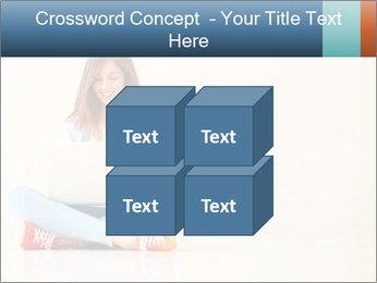 Schoolgirl Surfing Online PowerPoint Template - Slide 39