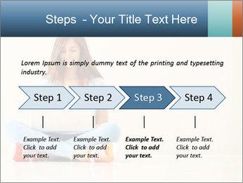 Schoolgirl Surfing Online PowerPoint Template - Slide 4