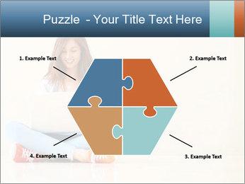 Schoolgirl Surfing Online PowerPoint Template - Slide 40