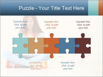 Schoolgirl Surfing Online PowerPoint Template - Slide 41