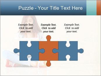 Schoolgirl Surfing Online PowerPoint Template - Slide 42