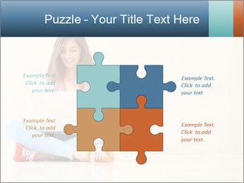 Schoolgirl Surfing Online PowerPoint Template - Slide 43