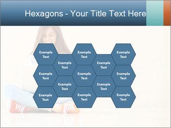 Schoolgirl Surfing Online PowerPoint Template - Slide 44