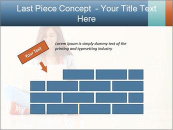 Schoolgirl Surfing Online PowerPoint Template - Slide 46