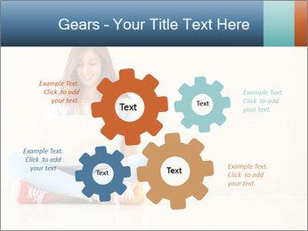 Schoolgirl Surfing Online PowerPoint Template - Slide 47