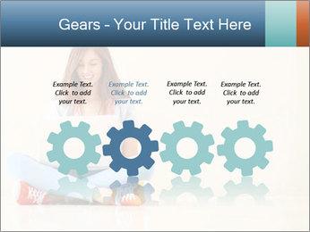 Schoolgirl Surfing Online PowerPoint Template - Slide 48