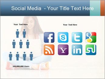 Schoolgirl Surfing Online PowerPoint Template - Slide 5