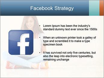 Schoolgirl Surfing Online PowerPoint Template - Slide 6