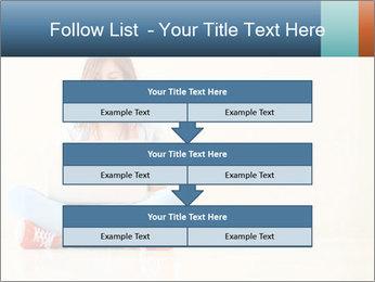 Schoolgirl Surfing Online PowerPoint Template - Slide 60