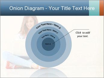 Schoolgirl Surfing Online PowerPoint Template - Slide 61