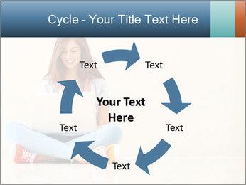 Schoolgirl Surfing Online PowerPoint Template - Slide 62