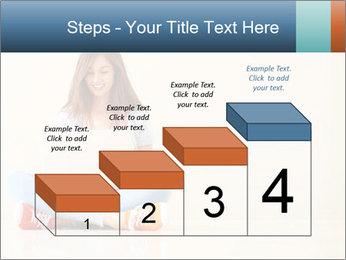Schoolgirl Surfing Online PowerPoint Template - Slide 64