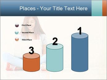 Schoolgirl Surfing Online PowerPoint Template - Slide 65